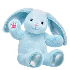 Little ones will hop for joy when they see this precious sky blue bunny plush Pastel Pawlette™ in their basket. Shop Easter now at Build-A-Bear! Hugs And Cuddles, Blue Bunny, Bunny Plush, Blue Gift, Build A Bear, Dinosaur Stuffed Animal, Stuffed Animals, Cartoon Wallpaper, Teddy Bear