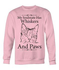 Unisex Men Women My Soulmate Cat Lovers Crew Neck Sweatshirt