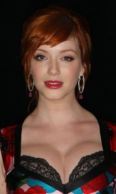 Ingeniously talented Christina Hendricks ...  Magnificent Hairstyles...   She also starred in music videos for The Ghost Inside by Broken Bells, and Everclear-s -One Hit Wonder-