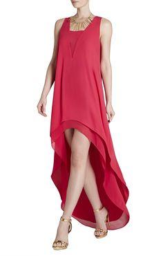 Ivana Asymmetrical-Hem Dress | BCBG