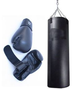 Pro Boxing Gloves + Punching Bag + Heavy Duty Stitching by Lastworld. $49.56. FEATURES:   * Heavy Duty Pro Boxing Gloves + Heavy Duty Leather Punching Bag  * Great Quality  * 1 Pair of Boxing Gloves 16oz Adult Size + Punching Bag with Chains  * Extra Heavy Duty Stitching  * Will Last You a Long Time  * Mostly Used for Boxing Practice  * We Don't know how heavy is the bag (it depends on what you fill it up with)  * The Bag is Huge, Comes Empty with Chains  * Can ...