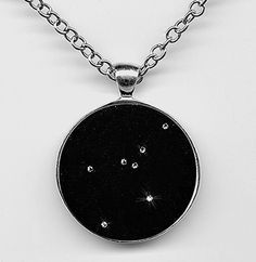 Cancer Constellation Pendant Zodiac Jewelry Astrological Sign - Swarovski Crystals I would do this as a tattoo with little tiny stars. I like this better than the zodiac symbols