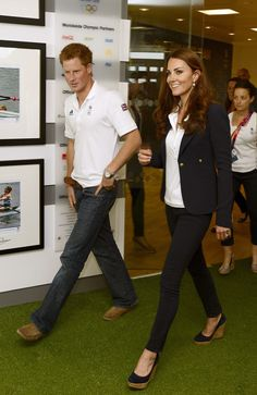 Olympics Day 13 - Around the Games  LONDON, UNITED KINGDOM - AUGUST 9: Prince Harry and Catherine, Duchess of Cambridge visit athletes at Team GB House in the Westfield Centre on Day 13 of the London 2012 Olympic Games on August 9, 2012 in Londo