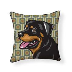 Rottweiler Pooch Decor Decorative Pillow