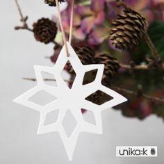 Esther Elisabeth Pedersen - Keramik julepynt, julestjerne, hvid