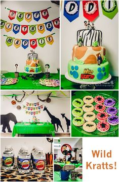 Wild Kratts 7th Birthday Party   Spring Hill, TN Photographer.  Adorable themed birthday party great for the Animal Lover.  Includes decoration, food, games and entertainment ideas.