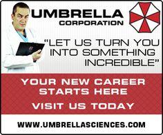 umbrella corporation advert - Google Search
