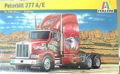 Peterbilt 377 A/E 1/24 Scale Truck Kit Italeri #0740 New – Shore Line Hobby