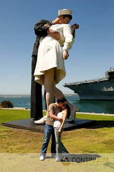 Quintessential San Diego shot...we will have to get one of these with him in his dress blues :)