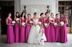 Madrinhas: Vestidos de madrinhas roxo padronizado.