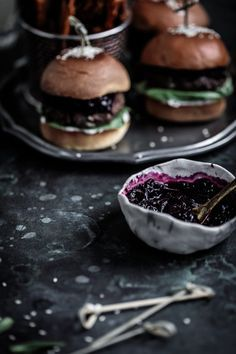 Juicy and frangrant lamb sliders with sweet beetroot relish, labneh tzatziki on toasted brioche buns!Anisa Sabet | The Macadames | Food Styling | Food Photography | Props | Moody | Food Blogger | Recipes