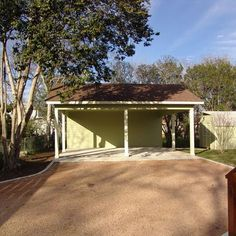 The Cullen House - traditional - garage and shed - austin - Fulford Construction and Design Carport With Storage, Shed Storage, Carport Designs, Carport Ideas, Garage Ideas, Carport Garage, Patio Steps, Shed Design, Decks And Porches