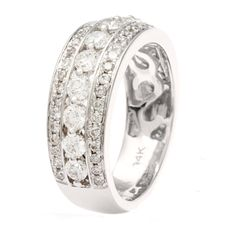 14k White Gold Round-cut Diamond Anniversary Band (H-I, I1-I2) | Overstock.com Shopping - The Best Deals on Women's Wedding Bands