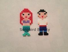 Ariel and Eric Perler Beads Geekery magnet por SongbirdBeauty
