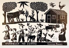 Indigo Arts Gallery | Brazilian Folk Art | Woodcuts by Borges Family & Others -Severino Borges