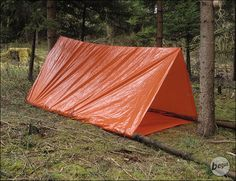 Lightweight, compact emergency tent for hikers and trekkers.