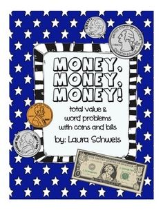 Money: Total Value & Word Problems Money Math for 2nd second grade