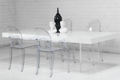 Lucite Plinth Leg Dining Table | ModShop