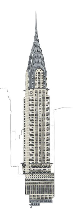 chrysler building drawing - Google Search More