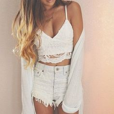 Vest Crop Tops TONSEE Women Crochet Tank Camisole Lace Vest Blouse Bralette Bra Crop Top L *** Check this awesome product by going to the link at the image. Teen Fashion, Fashion Outfits, Womens Fashion, Fashion Trends, Fashion Clothes, Fashion Shirts, Fashion Edgy, Fashion Fall, Lover Fashion
