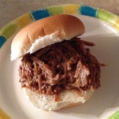Pulled pork met barbecuesaus