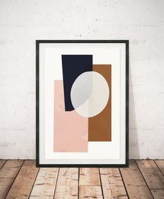 Abstract print Abstract decor Minimalist by ShopTempsModernes