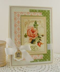 simply handmade by heather: Hollyhocks and Roses