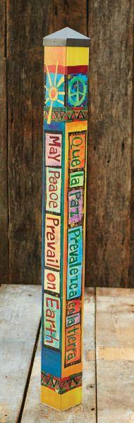 34 Best Peace Poles Images Peace Pole Garden Art