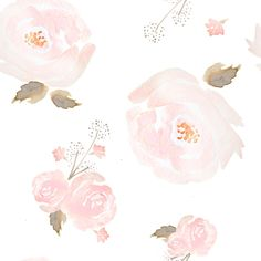Pink Watercolor Floral Fabric - Indy Bloom Blush Rose B By Indybloomdesign - Modern Nursery Decor Cotton Fabric By The Yard With Spoonflower by Spoonflower on Etsy https://www.etsy.com/listing/485544406/pink-watercolor-floral-fabric-indy-bloom
