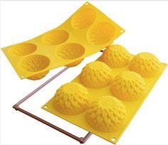 Silikomart Silicone Dahlia Six-Cavity Baking Mold Cupcakes, Cupcake Cookies, Plastic Molds, Silicone Molds, Cupcake Pans, Muffin Pans, Tart Pan, Fancy Desserts, Pan Bread