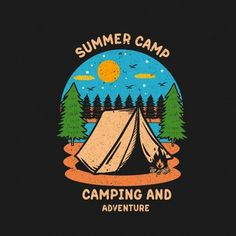 Camping Vectors, Photos and PSD files | Free Download Mountain Illustration, Retro Illustration, Nature Illustration, Creative Illustration, Designs To Draw, Camping, Jdm Stickers, Freepik Vector, Seesaw