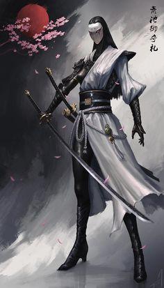 Image empire of samurai 6 in Urban Fantasy album Ninja Kunst, Arte Ninja, Ninja Art, Fantasy Character Design, Character Concept, Character Art, Concept Art, Ronin Samurai, Samurai Warrior