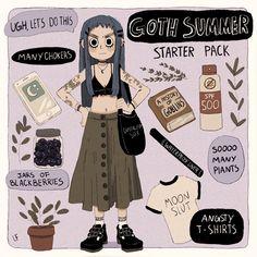 Summer Goth Print · Libby Frame Illustration · Online Store Powered by Storenvy Cute Art Styles, Cartoon Art Styles, Mode Inspiration, Character Design Inspiration, Illustrator, Estilo Hippie, Pop Surrealism, Meet The Artist, Pretty Art