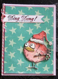 Cartes de voeux Crazy Birds Tim Holtz