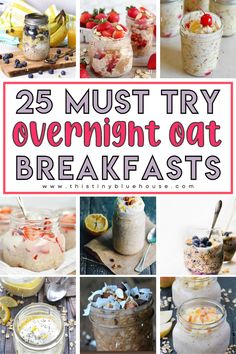make breakfast a delicious seamless part of of your day with these easy and delicious overnight oats recipes. Prepare these delicious overnight oats recipes ahead and have breakfast ready and waiting for you all week! Delicious Breakfast Recipes, Easy Healthy Breakfast, Eating Healthy, Healthy Living, Oats Recipes, Easy Family Meals, How To Make Breakfast, Overnight Oats, Food To Make