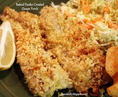 Baked Perch Recipes, Ocean Perch Recipes, Easy Fish Recipes, Seafood Recipes, Healthy Recipes, Clean Dinners, Baked Fish, Fish And Seafood, Baking Recipes