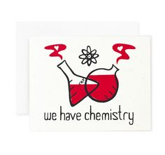 We Have Chemistry / Nerdy Valentine / Retro Valentine by vitamini