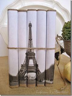 Eiffel tower book bundle from Confessions of a Plate Addict