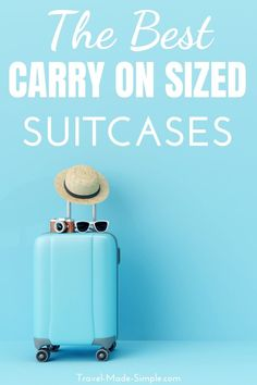 Best Suitcases for Carry On Travel Recommended by Frequent Travelers Best Carry On Luggage, Carry On Packing, Packing Tips For Vacation, Travel Packing, Air Travel Tips, Travel Essentials, Travel Hacks, Best Suitcases, Vintage Suitcases
