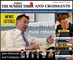 The Sunday Times and Croissants, NHS must reform or I will use every drop of my blood in the process - unions are reviewing options