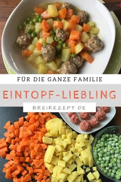 Gemüseeintopf mit Fleischbällchen Viking stew or vegetable stew with meatballs – whatever you call it, this stew is an absolute hit for the whole family and can be cooked quickly and easily according to this recipe: www. Budget Freezer Meals, Cooking On A Budget, Frugal Meals, Healthy Meal Prep, Healthy Snacks, Healthy Recipes, Healthy Fats, Clean Eating Soup, Clean Eating Recipes