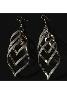 Fashion Gold Metal Geometric Shaped Earrings with cheap wholesale price, buy Fashion Gold Metal Geometric Shaped Earrings at Rotita.com !