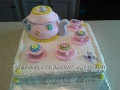 Coolest Tea Party Cake... This website is the Pinterest of homemade birthday cakes