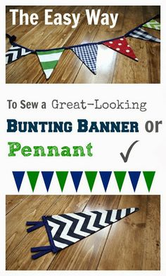 A super easy method for making a bunting banner and an update on progress in the nursery!