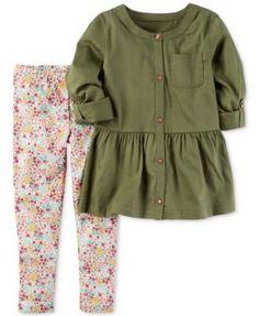Carter's 2-Pc. Peplum Tunic & Leggings Set, Baby Girls (0-24 months) | macys.com