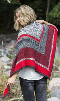 Neulottu kolmiohuivi Novita Nalle ja Nalle Garden | Novita knits