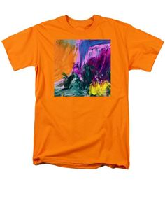 Abstract Men's T-Shirt  (Regular Fit) featuring the photograph Pink Trio 3 by Noa Yerushalmi