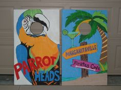 Parrotheads corn hole boards