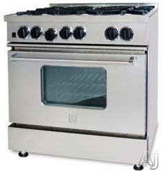 "BlueStar RCS36IRV1 36"" Pro-Style Gas Range with 6 Open Burners, Simmer Burner, Large Capacity Convection Oven, Infrared Broiler, Removable Drip Tray and Seamless Control Panel"