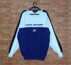 da7b90ce20 Rare!!! Vintage POLO Sport Ralph Lauren spellout Sweatshirt Pullover Vtg  Polo Sport Side Tape Crewne